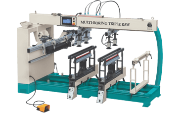 Multi Boring Triple Raw Machines